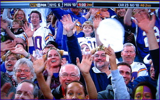Vikings fan riveting