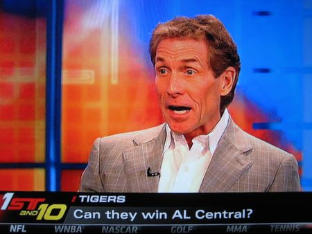 IMG_5910 Skip Bayless does math problems with eyebrows