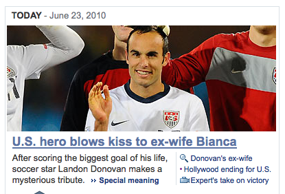 Landon Donovan is made of wax