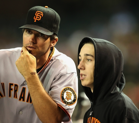 Barry Zito and 11-year old Timmy Lincecum