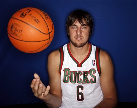 Andrew Bogut media day