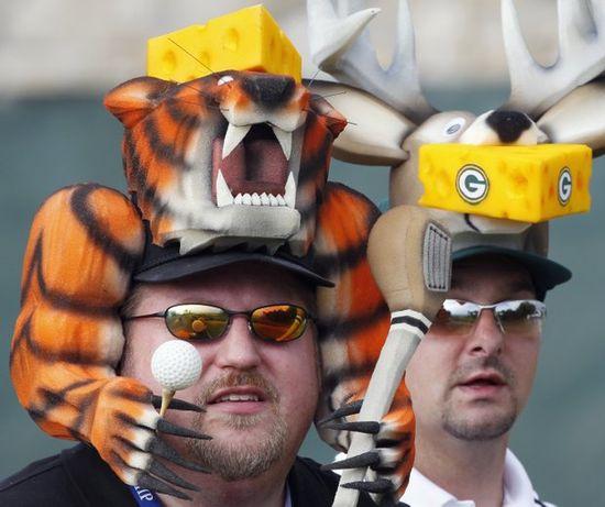 Stupid sports fans stupid hats